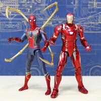 正版漫威手办玩具美国队长 复仇者联盟3黑豹蜘蛛侠钢铁侠模型周边