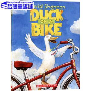 #英文原版绘本3 6岁 Duck on a Bike 鸭子骑车记 David Shannon 自行车上的鸭子 幼儿启蒙阅读物 常青藤爸爸英语启蒙