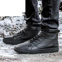 潮牌冬季大码男雪地靴45 46 47 48加绒皮毛一体棉鞋防水防滑棉靴