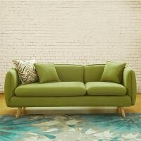现代日式小户型北欧布艺沙发单人双人三人组合卧室客厅简约沙发椅