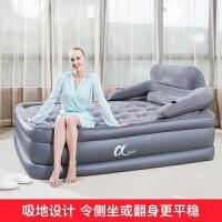 三层充气床家用双人气垫床加厚加高充气床垫户外单人靠背床 203x152x52cm