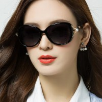 网红同款可配近视眼镜方脸 女潮圆脸墨镜 新款偏光太阳镜女士户外遮阳镜