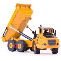汇纳 仿真合金铰接式自卸车模型 儿童滑行工程玩具车