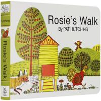 正版 母鸡萝丝去散步 英文原版绘本 廖彩杏书单 英文版幼儿童英语启蒙绘本书籍 纸板书 Rosie's Walk Boar