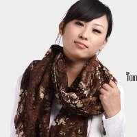 润帛 2015 秋冬天女士长润帛 韩版韩国纯羊毛围巾披肩 魅惑蟒纹