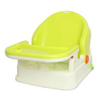 【当当自营】英国zazababy多功能便携婴儿童餐椅 宝宝吃饭桌椅可调节折叠 黄绿色