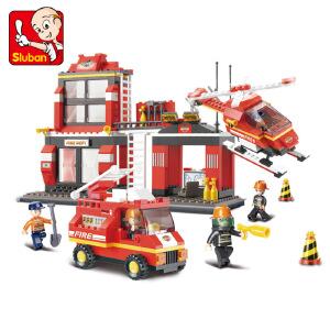【当当自营】小鲁班急速火警系列儿童益智拼装积木玩具 紧急出动M38-B0225