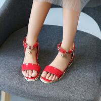 女童凉鞋儿童公主鞋宝宝鞋子中大童童鞋女孩罗马鞋潮