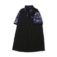夏季肥佬短袖T恤男翻领加肥加大码宽松 潮胖子男装polo打底衫衣服