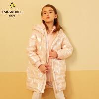 马克华菲童装女童羽绒服2018新款韩版长款洋气冬装童装冬季