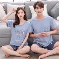 韩版情侣睡衣套装女夏季短袖棉居家服夏天男女卡通可外穿家居服 2817泳圈鹅
