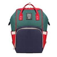 妈咪包时尚韩版潮辣妈双肩包母婴包大容量多功能宝妈外出旅游背包