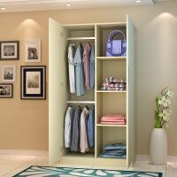 卧室整体板式衣柜简易收纳柜双开门储物柜木质衣橱定制 2门