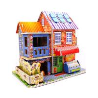 儿童3d立体拼图纸质益智早教玩具4-5-6-8周岁男女孩积木拼装模型