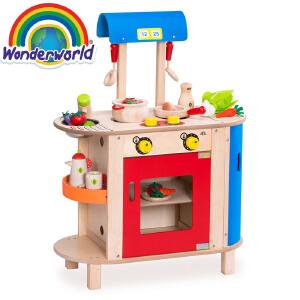 [当当自营]泰国Wonderworld 烹饪中心 角色扮演益智玩具 木质大型情景玩具