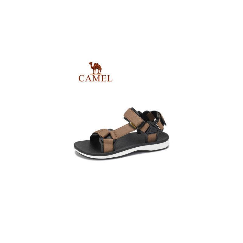 camel骆驼男鞋2019夏季新款凉鞋男休闲舒适透气平底户外轻便防滑沙滩鞋