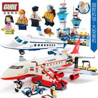 一号玩具 古迪益智拼装式积木大型客机空中客车私人飞机拼装拼插玩具积木