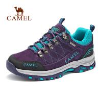 【满259减200元】camel骆驼女款徒步鞋女 防滑缓震低帮时尚反绒皮徒步鞋秋季