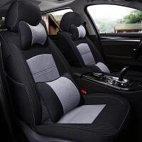 汽车坐垫四季通用专车专用座椅套亚麻冬季女士车内坐垫全包围座套