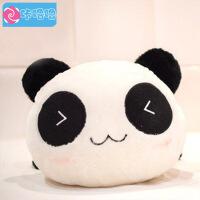 咔噜噜趴趴熊猫公仔 卡通熊猫毛绒玩具 经典三角眼25厘米   情人节礼物