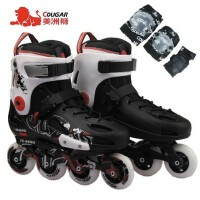 正品美洲狮MS307 平花鞋花样旱冰鞋成人轮滑鞋入门级花样溜冰鞋