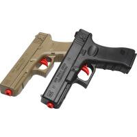 格洛克手动手动可回膛儿童手动玩具枪可发射男孩软弹枪绝地吃鸡水珠弹抢
