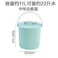 【新品特惠】水桶凳家用储水钓鱼桶手提洗澡篮洗衣带盖储物收纳桶塑料加厚可坐