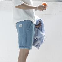 的牛仔短裤男士夏季2018新款韩版修身五分裤学生沙滩裤潮