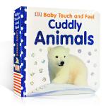 顺丰发货 英文原版DK儿童触摸书 DK Baby Touch and Feel Cuddly Animals 早教触摸
