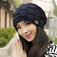 帽子女秋冬时尚韩版潮帽女式百搭保暖加绒女士冬季针织包头毛线帽