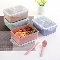 日式便携塑料单层便当盒学生成人饭盒分格1层餐盒儿童野餐水果盒