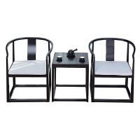新中式三件套实木官帽椅皇宫椅茶椅禅意仿古接待椅可定制家具