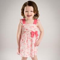 davebella戴维贝拉夏季新装女童连衣裙女童卡通印花连衣裙(不含帽)DB5365