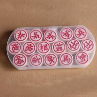 中国象棋密胺料麻将材质象棋小号学生儿童象棋比赛象棋套装 30象棋 +塑料纸棋盘