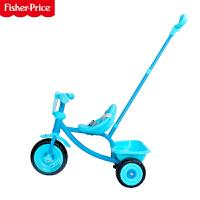 【当当自营】FisherPrice费雪儿童三轮手推车1~3岁宝宝脚踏车拆叠滑行车儿童可坐人玩具车202C 蓝色