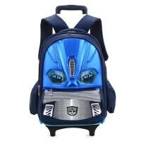 汽车拉杆书包1-3-6年级儿童拉杆书包小学生防水减负汽车拖拉两用双肩背包 开学礼物学生书包