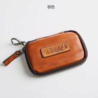 复古男士钥匙包女锁匙扣 多功能牛皮腰挂汽车卡包零钱包一体
