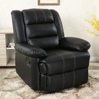 头等太空沙发舱单人多功能沙发欧式布艺美甲沙发电动躺椅电脑沙发 黑色 科技皮清仓 +震动按摩