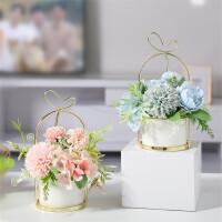 北欧家居干花假花仿真花客厅装饰品摆件花束餐桌花瓶花艺落地摆设