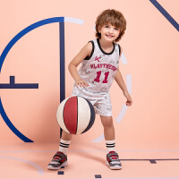 【券后价79】安踏儿童童装 篮球套装男运动上衣短裤排汗透气夏季小童服篮球套官方旗舰352029205
