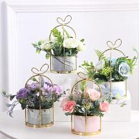 家居客厅装饰摆件桌面花艺婚庆摆设小清新仿真假花干花塑料
