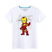 复仇者联盟2 童装夏装 2018款男童短袖T恤美国队长青少年儿童衣服