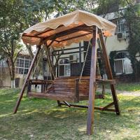 木吊椅双人吊床户外木秋千荡秋千台摇椅吊篮庭院实木摇篮床
