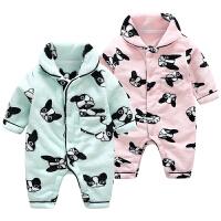 女婴儿衣服男宝宝冬季装哈衣加厚保暖新生儿睡衣抱衣连体衣