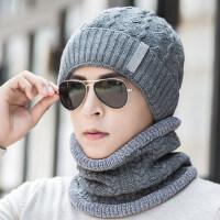 户外骑车男士帽子青年防寒棉帽 时尚毛线帽保暖针织帽子 韩版潮男士毛线帽