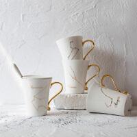 情人节七夕生日礼物创意12星座情侣水杯陶瓷骨瓷马克杯办公室咖啡杯