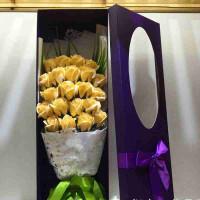 圣诞节礼物 33朵香皂花仿真玫瑰礼盒 永生花仿真玫瑰花束