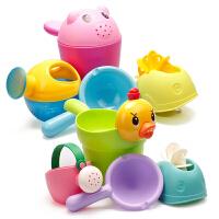儿童洗澡戏水车玩具男孩女孩小黄鸭洗头杯花洒宝宝洒水壶沙滩套装