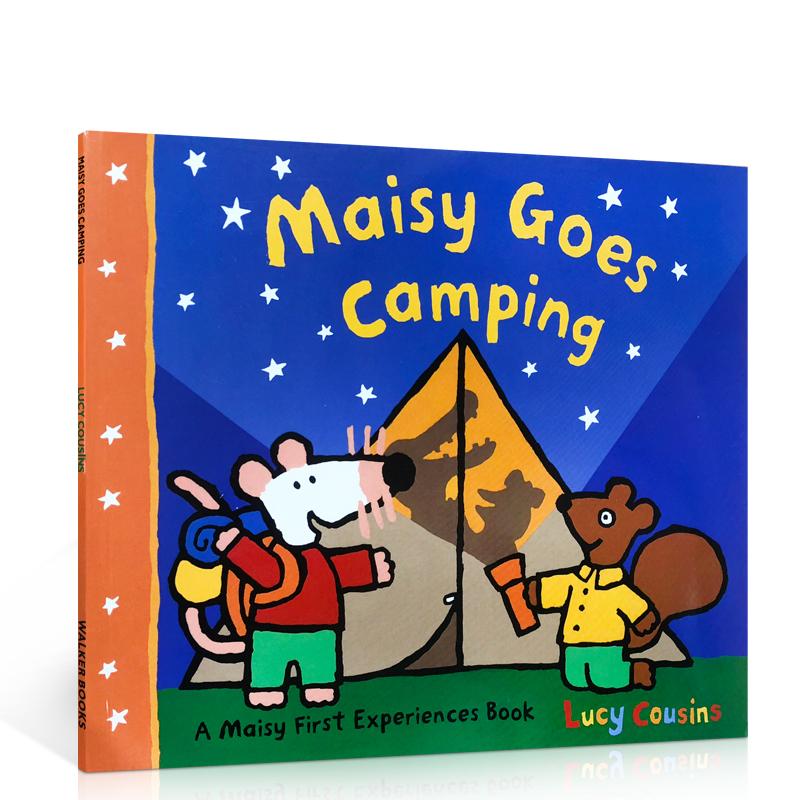 英文原版 Maisy Goes Camping 小鼠波波去露营 Lucy Cousins 廖彩杏书单 幼儿英文原版图画故事书