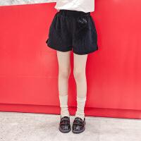 女童冬装棉短裤韩版外穿儿童秋冬季洋气裤子女孩大童装潮